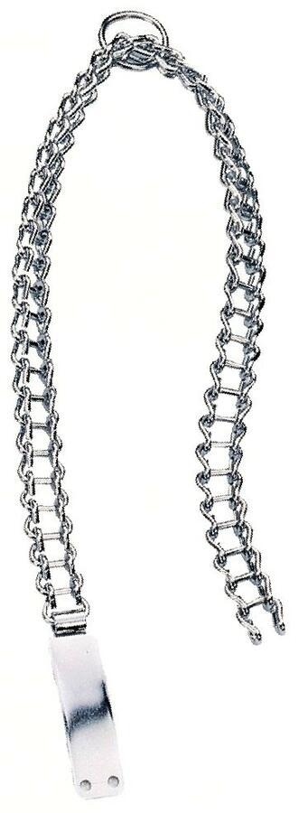 Collare in catena cromata modello medio con piastrina