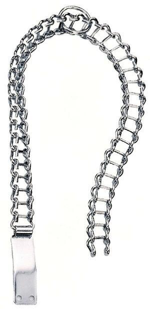 Collare in catena cromata modello pesante con piastrina