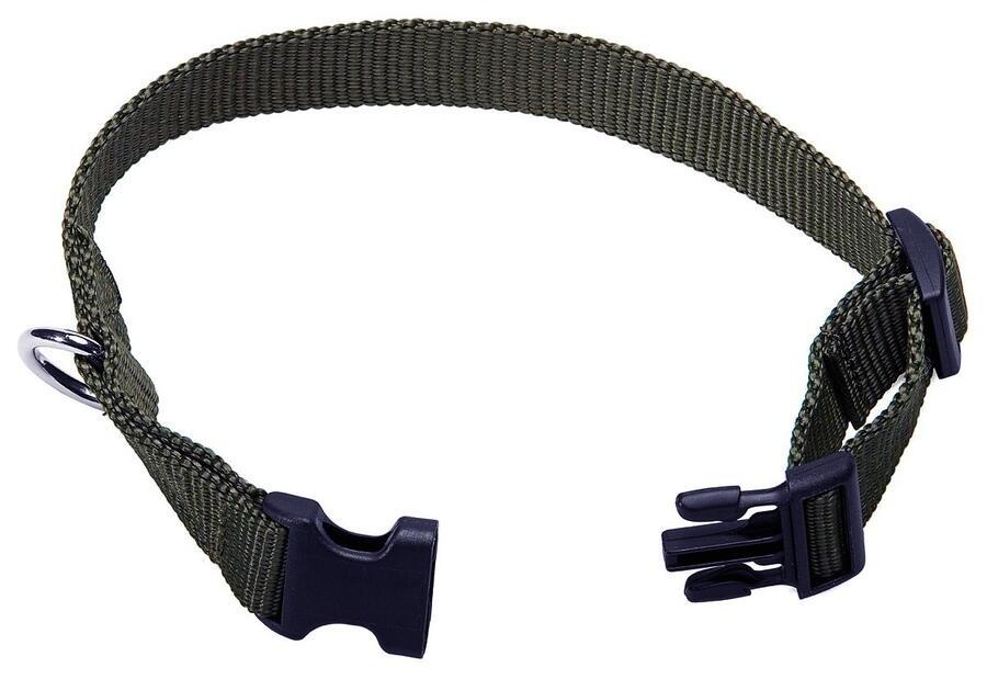 Collare regolabile in fettuccia ad alta resistenza mm.20 colore verde militare