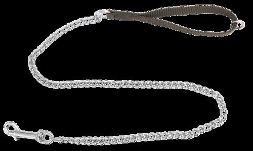 Guinzaglio con maniglia in fettuccia e catena modello medio