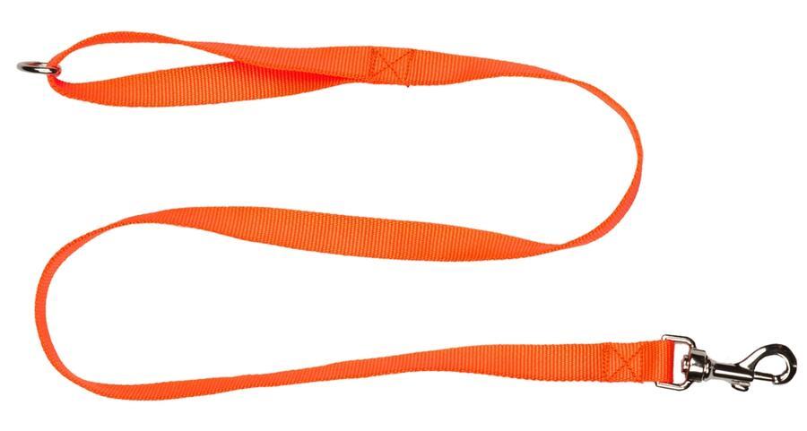 Guinzaglio in fettuccia di morbido nylon 100% mm.20 colore arancio fluo