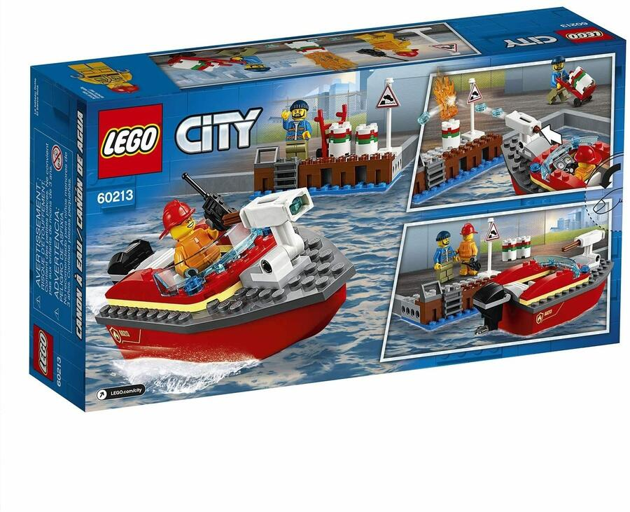 Motoscafo antincendio - Lego City 60213 - 5+