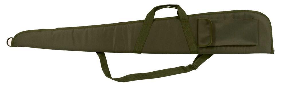 Fodero per fucile in tessuto di poliestere 600 D verde militare con cerniera cm.130 e 140