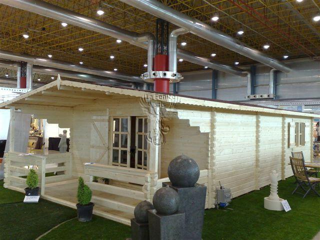 Casetta in legno 5,00 m x 10,00 m - Mod. Chamonix - 66 mm LAMELLARE