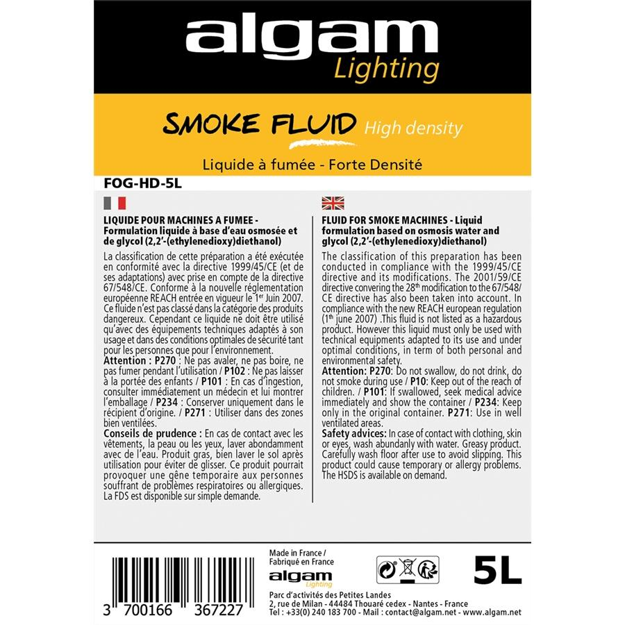 ALGAM LIGHTING - FOG-HD-5L LIQUIDO FUMO ALTA DENSITÀ 5L