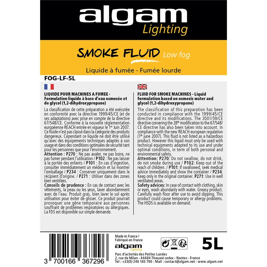 ALGAM LIGHTING - FOG-LF-5L LIQUIDO FUMO BASSO 5L