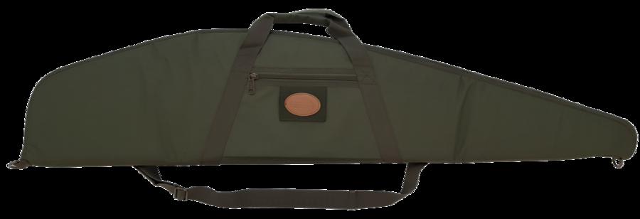 Fodero per carabina con ottica in tessuto di poliestere 600 D verde militare con cerniera fino alla punta cm.125
