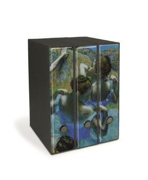 Set tre registratori Image - Formato Protocollo - Dorso 8 cm - E. Degas - Quattro ballerine che si rassettano dietro le quinte