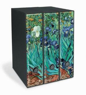 Set tre registratori Image - Formato Protocollo - Dorso 8 cm - Vincent van Gogh - Iris