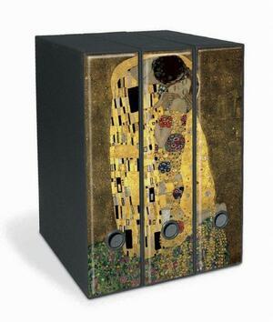 Set tre registratori Image - Formato Protocollo - Dorso 8 cm - Gustav Klimt - Il bacio