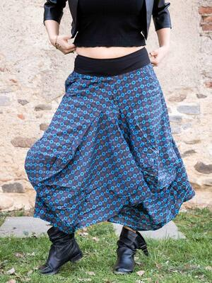 Bag long skirt Dhara - flowered blue