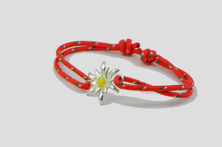 Edelweiss Bracelet Silver enamel