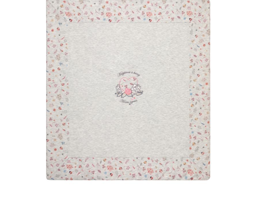 Babydola Coperta per Neonati Cotone Imbottita - Grigio Cuori