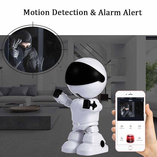 Camera Robot a due vie Audio 1080 P HD  Visione Notturna Rilevamento Movimento