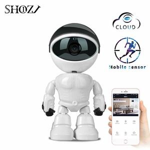 Camera Robot a due vie Audio 1080 P HD  Visione Notturna Rilevamento Movimento