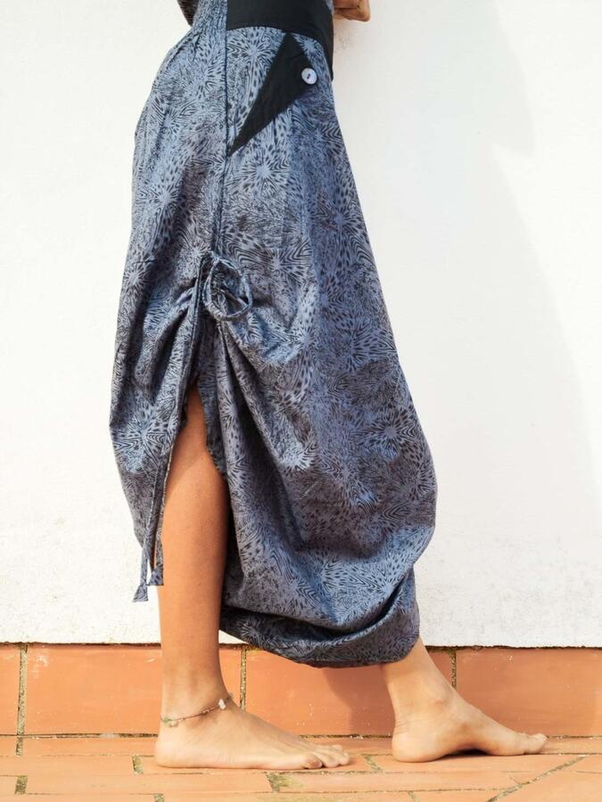 Long woman Jumpsuit Vaishali low crotch – gray