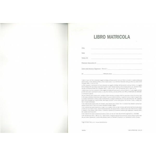 REGISTRO LIBRO MATRICOLA 13 PAG DATA UFFICIO