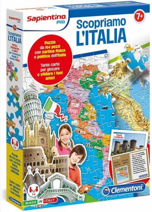Scopriamo l'Italia - Clementoni 12026 - 7+