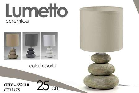 2 Lampada Lampade da Tavolo Comodino Lumetto Lampade in Ceramica Lumetti Base Pietre