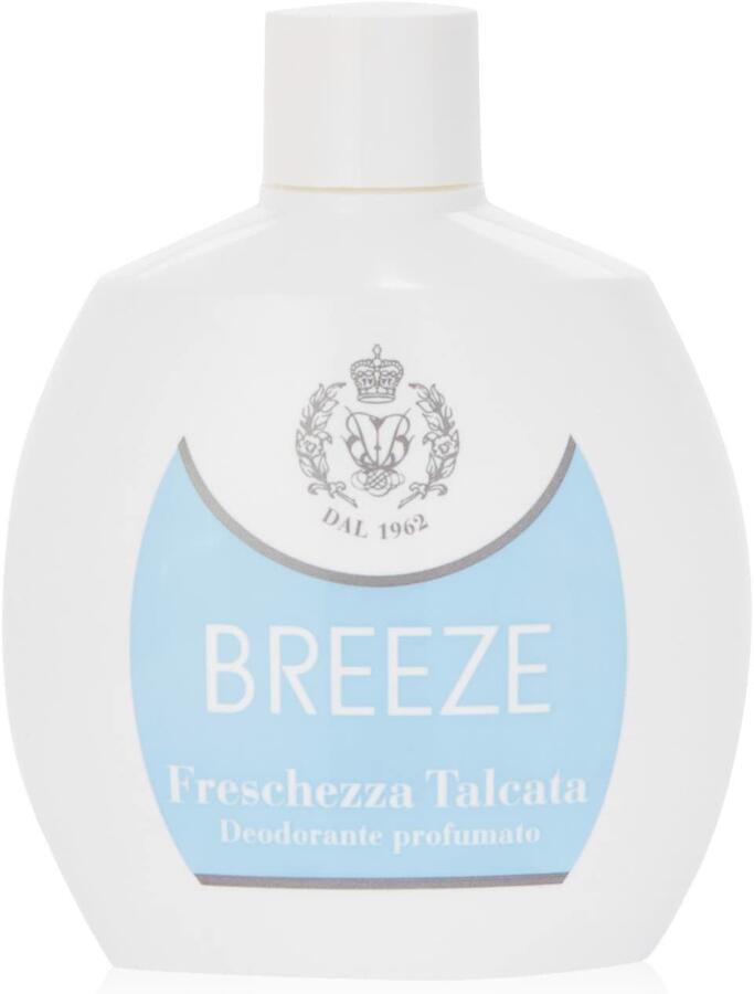 Breeze - Deodorante profumato, Freschezza Talcata , No gas - 100 ml