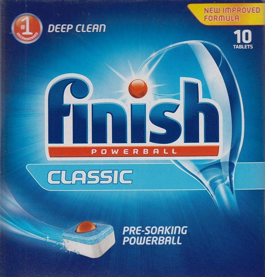 Finish Powerball detergente lavastoviglie, 10 tabs Classic