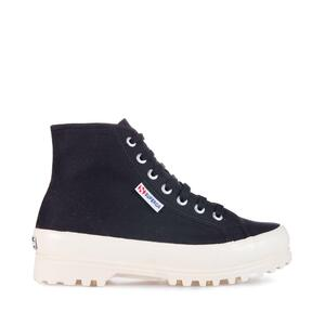 SUPERGA 2341 ALPINA AHINY GUM BLACK-SHINY OFF WHITE