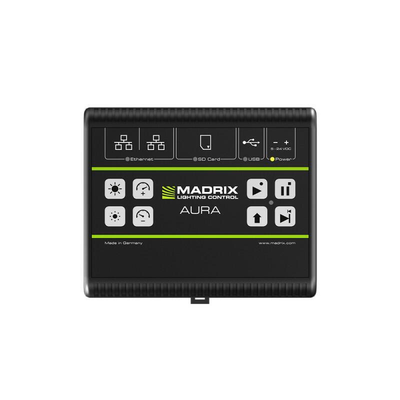MADRIX® AURA 8 - Registratore / lettore autonomo , 8 universi su rete, guida DIN