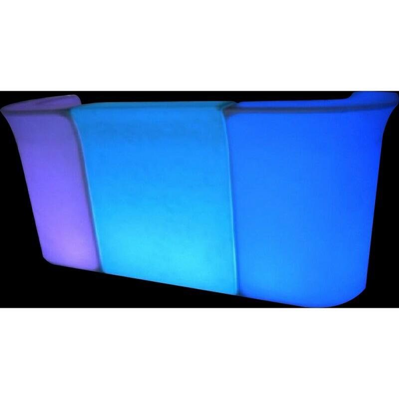 LED-BARCORNER - Outdoor Light Bar Bench – Corner