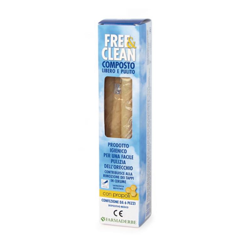 Farmaderbe - Free & Clean Coni auricolari 6pz