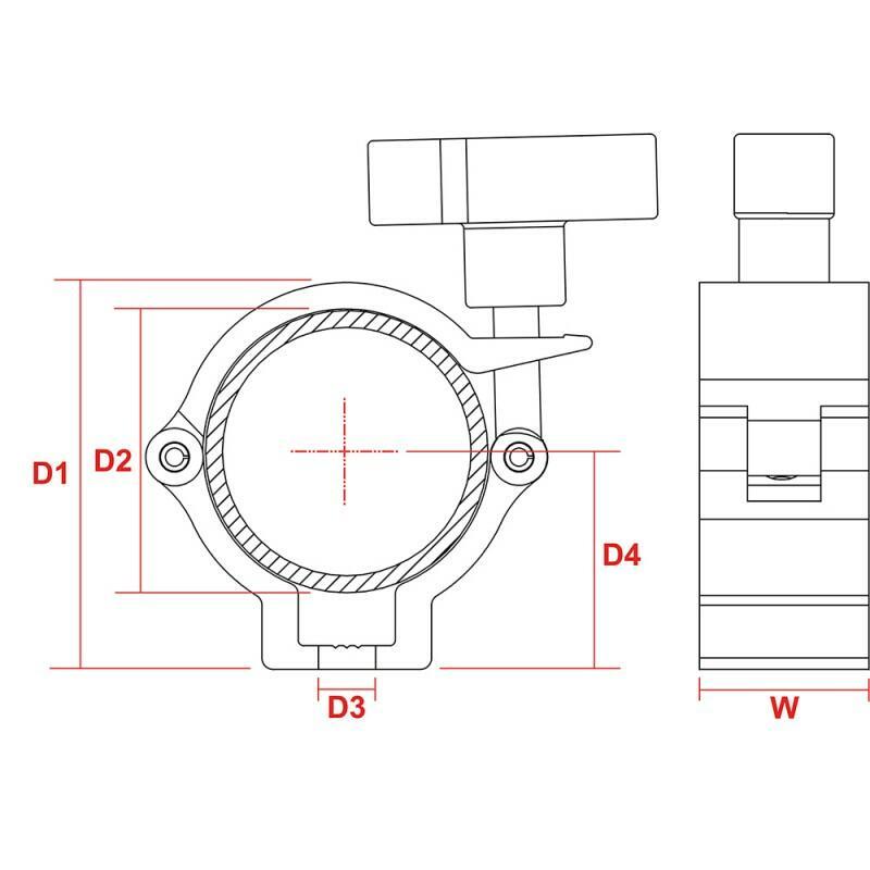 BeamZ BC50-100N - Half Coupler Sl 100kg Alum.