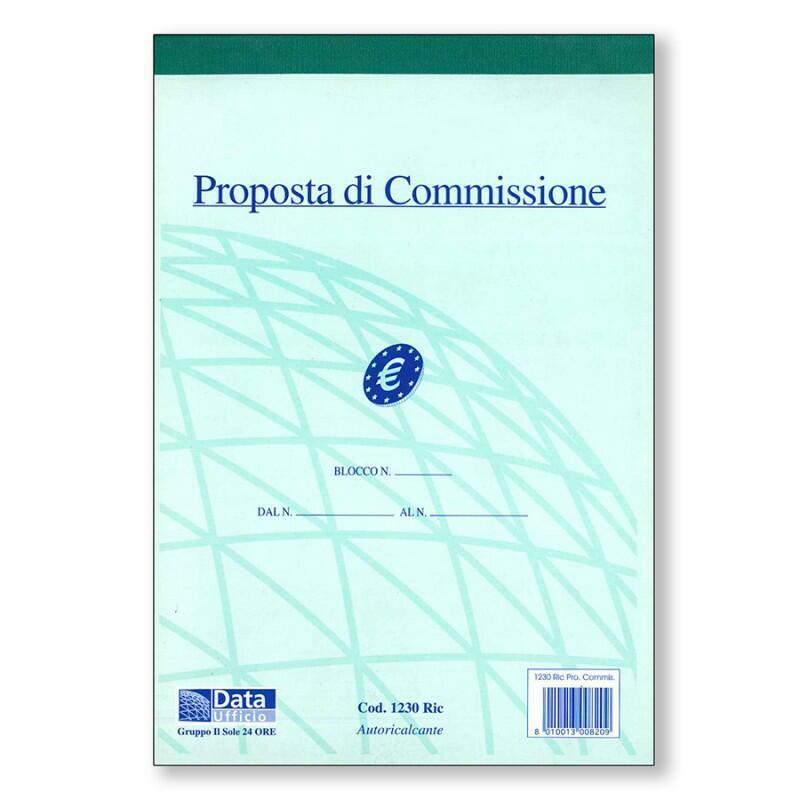 PROPOSTA DI COMMISSIONE AUTORICALCANTE A 2 COPIE  COD. 1232  DATA UFFICIO
