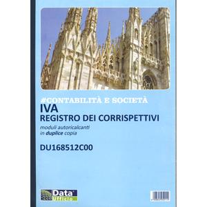 IVA REGISTRO DEI CORRISPETTIVI MODULI AUTORICALCANTI IN DUPLICE COPIA DU168512C00 DATA UFFICIO
