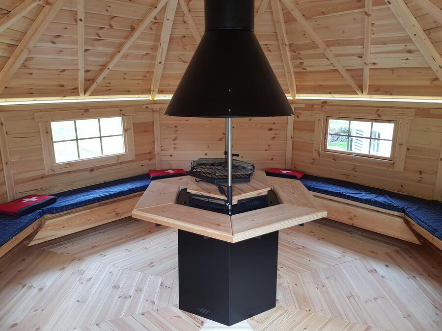 Grill Kota ottagonale con Grill e CaminoMod. Celina 14,9 m - 45 mm.