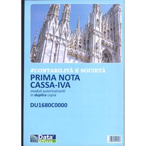 PRIMA NOTA CASSA-IVA MODULI AUTORICALCANTI IN DUPLICE COPIA DU1680C0000 DATA UFFICIO