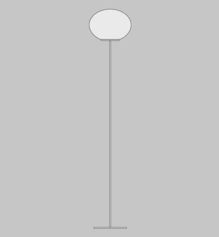 Lampada da Terra LUCCIOLA di Vetreria Vistosi, Varie Misure - Offerta di Mondo Luce 24
