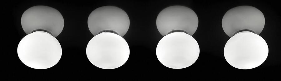 Lampada a Soffitto /Parete LUCCIOLA di Vetreria Vistosi, Varie Misure - Offerta di Mondo Luce 24