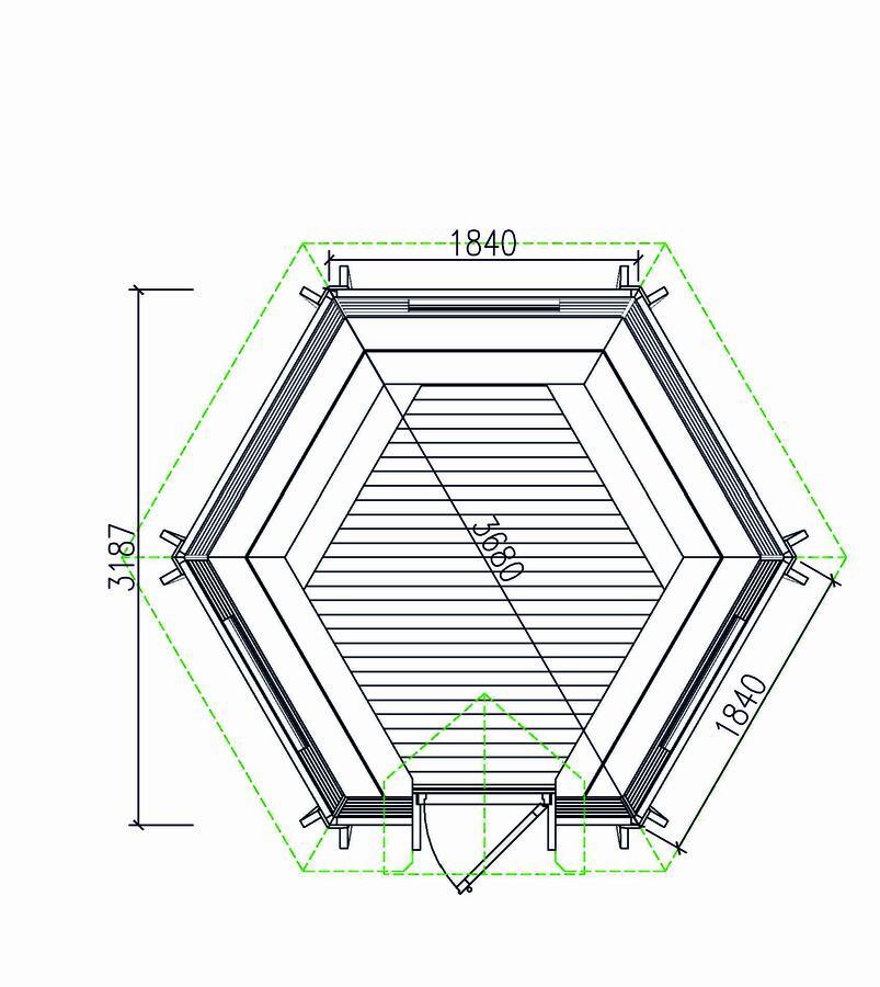 Grill Kota Exclusive pareti inclinate con BBQ e Camino Lux Mod. Felicita 7 - 45 mm