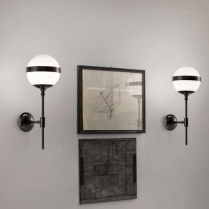 Lampada da Parete PEGGY in Vetro Bianco Lucido di Vetreria Vistosi, Varie Finiture - Offerta di Mondo Luce 24