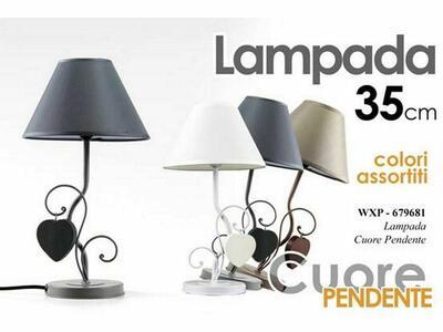 Lampada Lumetto Lumetti con Cuore Pendente Lampade Ceramica Lumetti da Tavolo Comodino in Diversi Colori 2 Pezzi