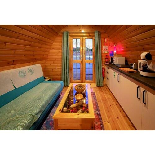 Camping Pod in legno di pino nordico con bagno Mod. Aura 3,00 x 4,80 - 46mm