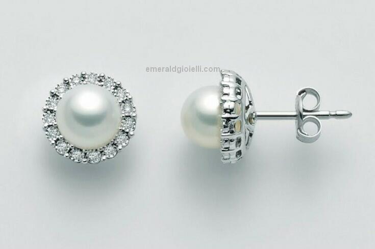 PER2382 Orecchini con perle e diamanti Miluna -