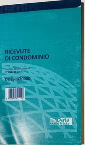 RICEVUTE DI CONDOMINIO MODULI AUTORICALCANTI IN DUPLICE COPIA DU1613700000 DATA UFFICIO