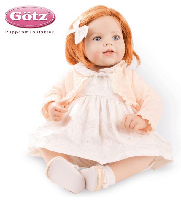 """Bambola da Collezione Vinile """"Noelle di Hildegard Günzel"""" con Capelli Rossi, edizione limitata 150 pezzi Gotz Made in Germany"""