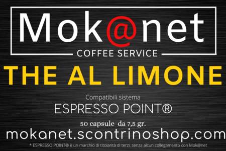 "100 CAPSULE COMPATIBILI ESPRESSO POINT MOK@NET ""THE AL LIMONE"""