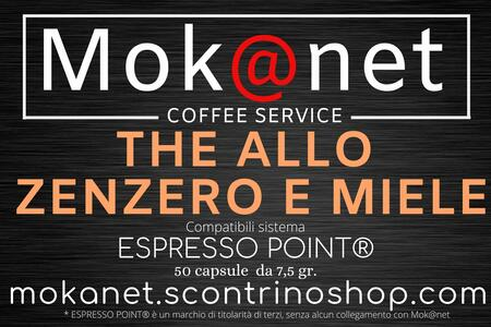 "100 CAPSULE COMPATIBILI ESPRESSO POINT MOK@NET ""THE ZENZERO E MIELE"""