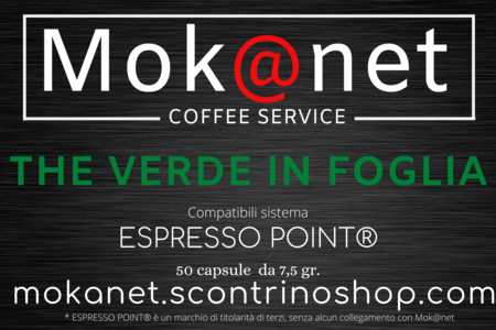 "100 CAPSULE COMPATIBILI ESPRESSO POINT MOK@NET ""THE VERDE IN FOGLIA"""