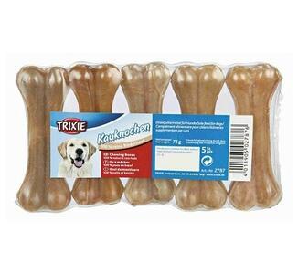 Trixie 5 Ossi Da 8cm Snack Per Cani Piccola Taglia Cuccioli Osso Masticabile Pelle Bovina