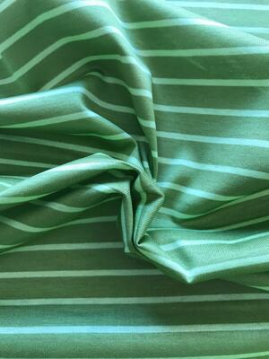 Maglina Jersey a righe verde pisello e verde acceso
