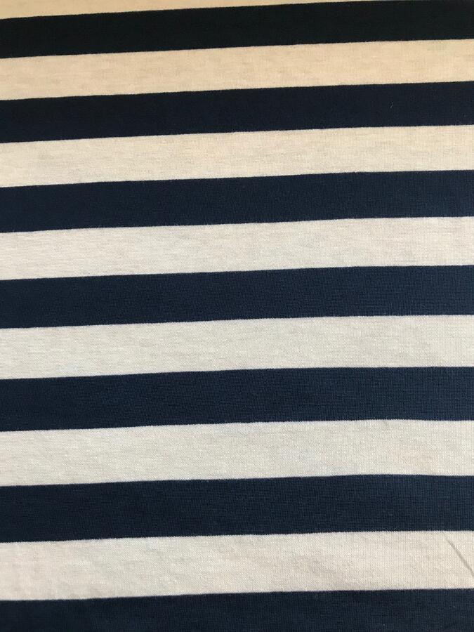Maglina Jersey a righe blu e bianco