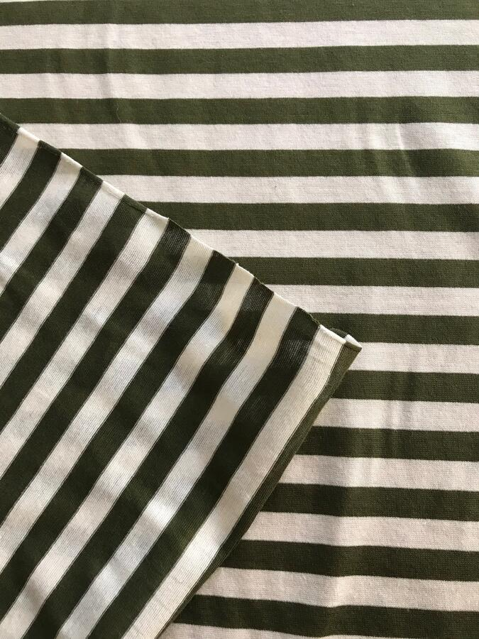 Maglina Jersey a righe verdi e bianche